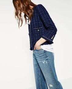 98463ea26436 7 meilleures images du tableau tweed   Jackets, Chanel jacket et Blazer
