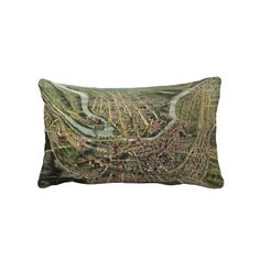 Vintage Pictorial Map of Cumberland MD (1906) Pillows from Zazzle.com $52.00