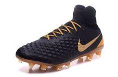 fb4962c37a8a High Quality Nike Magista Obra II FG Gold Black Men's Football Shoes Men's  Football, Football