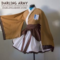 Attack on Titan SnK Scouting Legion Uniform Cosplay Kimono Dress Wa Lolita Accessory | Darling Army