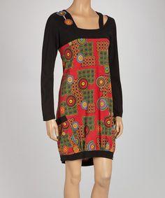 Look what I found on #zulily! Black Geometric Layered Dress - Women by Coline USA, $25 !!  #zulilyfinds