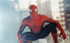 TOBEY MAGUIRE stars in the title role in Columbia Pictures' action adventure SPIDER-MAN. ®... #{T.R.L.}