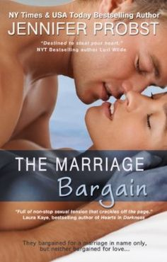 "Jennifer Probst. ""The Marriage Bargain"". Alexa and Nick."