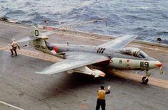 Hawker Sea Hawk '119' on HrMs Karel Doorman (R81)