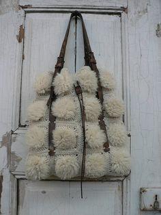 Idea.......Handmade crochet bag using 100% wool and sheep by GeorgiasWorld