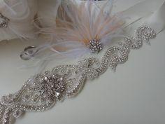 Swarovski Crystal Bridal Sash Belt, Rhinestone Pearl Bridal Belt Sash, Beaded Bridal Sash Belt