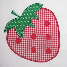 Summer Strawberry Machine Embroidery Design Applique