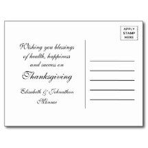Eat Drink And Give Thanks Burlap Lace Postcard