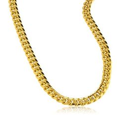 "Real 10k Gold 6mm Miami Cuban Chain Necklace - 9"" - 30"" Available"