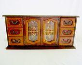 Wood Jewelry Box Chest Vintage Extra Large Jewellry Organizer