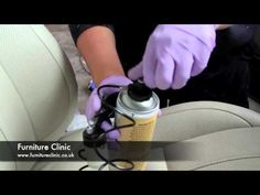 Repairing/painting leather car seat!!  Awesome