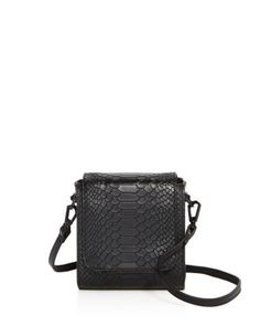 KENDALL AND KYLIE KENDALL AND KYLIE VIOLET SNAKE-EMBOSSED LEATHER CROSSBODY. #kendallandkylie #bags #shoulder bags #leather #crossbody #