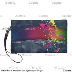 Butterflies n Rainbows Wristlet Purse
