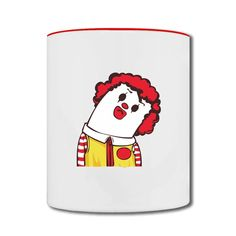 Mcdonald's Clown Two-tone Mug Store-Art & design Accessories with 98% happy customers! Create custom shirts and personalized goods at HICustom,Use our online designer to add your design, logos, or text. easily!