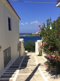 A Laneway in Batsi, Andros