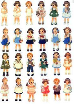 24 retro strijkapplicatie van lieve meisjes, zoals de poezie plaatjes van vroeger om van alles mee op te leuken.  Online te koop bij JL Kidsoutlet