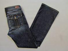 "Paige Premium Denim Jeans 28 Cloverdale Tuscan Flap Pocket Boot Cut  Stretch 30"" #PaigeDenim #BootCut"