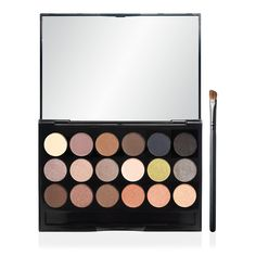 ELF Essential 18 Piece Eyeshadow Palette with Brush (*note: brush is made with animal hair and isn't vegan, but the shadows are vegan-friendly)
