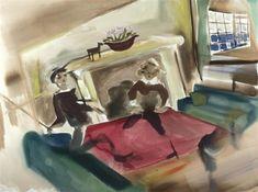 Out of Town par Sophie vonHellermann Artist, Painting, Sun, Yellow, Dots, Painting Art, Paintings, Amen, Artists
