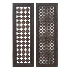 Elegant Two Assorted Wood Wall Panels Sculpture - Overstock™ Shopping - Great Deals on Accent Pieces