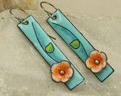 Handmade Flower copper Earrings
