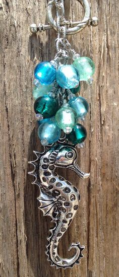 Seahorse Car Charm, Car Accessory, Rearview Mirror Charm, Fan Pull, Light Pull