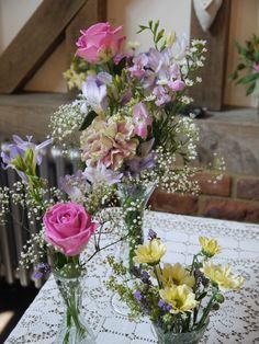 Beautiful summer flower arrangement