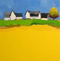 "Daily Paintworks - ""Rural Suite II"" - Original Fine Art for Sale - © Donna Walker"