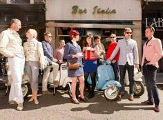 Mods outside Bar Italia