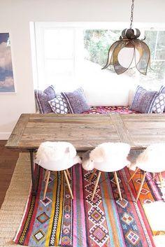 Modern nomad // love that kilim rug! #interior #design_inspiration