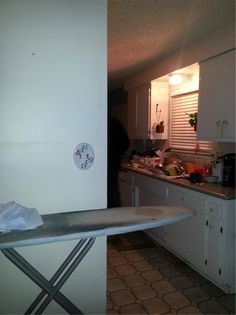 He knew he wasn't alone in the house, and he was right - if everyone was in living room just who or what is the shadow man in the kitchen? Want the full story? Read it here: http://www.paranormal360.co.uk/real-ghost-pictures-shadow-man-kitchen/