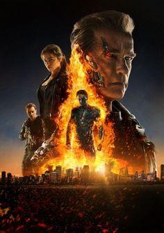 Terminator Movie Poster v2 24 x 36 #Handmade #PopArt
