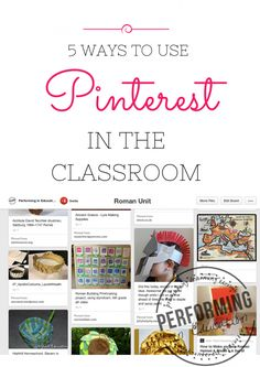 5 awesome ways to use Pinterest in the upper grade classroom!