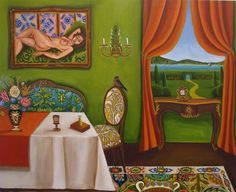 Living In The Past New original painting, painting by artist Catherine Nolin