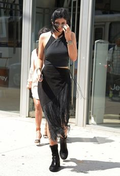 June 27, 2014- Kylie Jenner shopping in NYC.