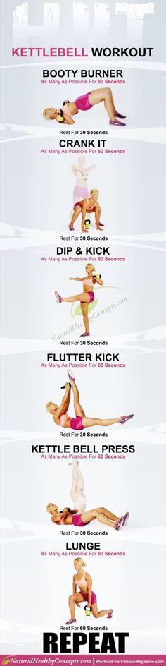 HIIT Kettlebell 20 minute workout!