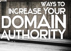 Want to get top on the search engines? Improve your Domain Authority for your ‪#‎website‬. Know the steps to improve ‪#‎DomainAuthority‬ http://goo.gl/ZtiY8T