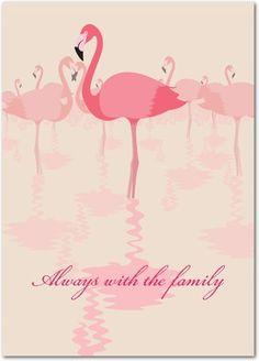 card pink flamingo