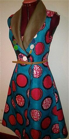 Robe Aline longue en wax coton par Niki - thread&needles
