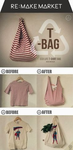 Accesorios Fimo: Convierte una camiseta en una bolsa para la compra
