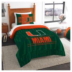 NCAA Northwest Modern Take Twin Comforter Set Miami Hurricanes - 64 x 86