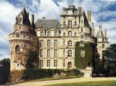 """From: List of reportedly haunted locations in France Photo: Chateau de Brissac, France (""""Even if you're not into ghost hunting, this is a great place to visit. This ornate castle was masterfu… Beautiful Architecture, Beautiful Buildings, Beautiful Places, Photo Chateau, Haunted Hotel, Haunted Castles, Abandoned Castles, Abandoned Mansions, Abandoned Places"""