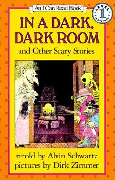 In a Dark, Dark Room and Other Scary Stories Book and Tape [With Book] by Alvin Schwartz, Dirk Zimmer Scary Stories Book, Spooky Stories, Telling Stories, Ghost Stories, Horror Stories, I Can Read Books, Good Books, My Books, Story Books