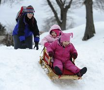 Inspiring picture sledding, snow, winter, girls, fun. Resolution: 550x409 px. Find the picture to your taste!