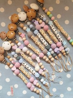 Diy Beaded Rings, Baby Diy Projects, Handmade Baby Gifts, Baby Bling, Dummy Clips, Baby Gift Sets, Stuffed Toys Patterns, Baby Toys, Crochet Baby