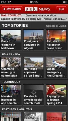 BBC News iPhone App Demo: http://www.appdemostore.com/demo?id=2764769