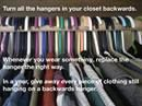 Turn all the hangers ...