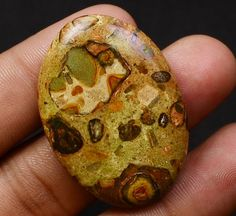MULTI~DESIGNER 39X29X4 MM FRESH~MIX 55CT.NATURAL POPPY JASPER LOOSE GEMSTONE CAB #GEMSWORLD