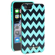 Women's kate spade new york chevron print iPhone 5 & 5s hard shell... ($38) ❤ liked on Polyvore