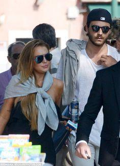 Homeward bound: Lindsay Lohan and her boyfriendMathia Milani were preparing to fly back t...